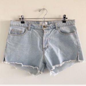American Apparel Button Fly Cutoff Shorts 31